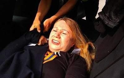 В Киеве во время акции задержали мать погибшей Бережной