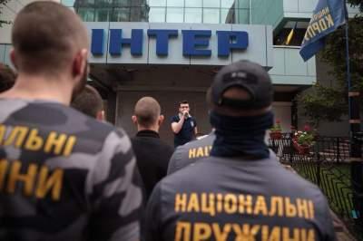 Киевская полиция отреагировала на блокирование Интера