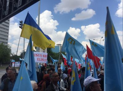 В Турции прошел митинг крымских татар