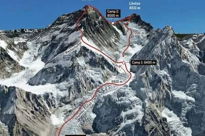 Застрявшие на Эвересте украинские альпинисты переночевали на высоте 6,4 км