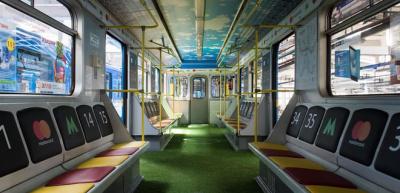 В метро Киева к финалу Лиги чемпионов запустили «вагон-стадион»