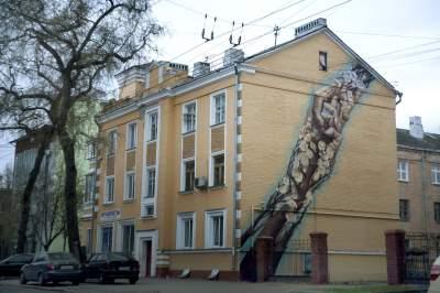 Сразу в четырех городах Украины появились необычные мурал