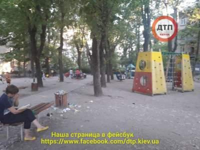 В Киеве детскую площадку превратили в свалку