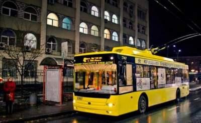 В Киеве изменит маршрут ночной троллейбус