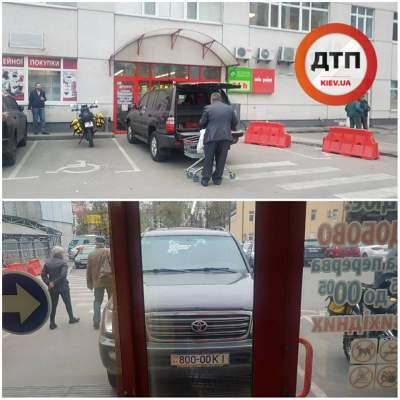 В Киеве автохам заблокировал вход в супермаркет