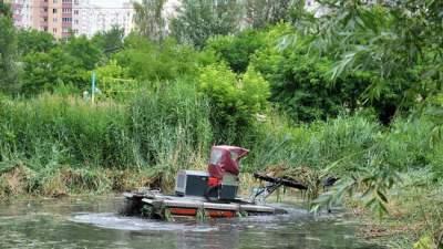 В Дарницком районе Киева чистят озеро