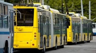 В центре Киева общественный транспорт изменил маршрут движения