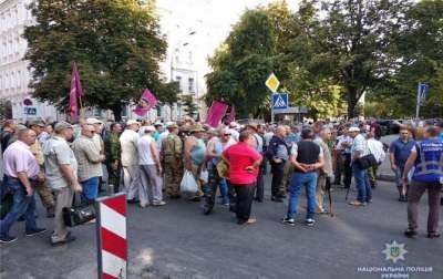 В центре Киева из-за митинга образовались пробки