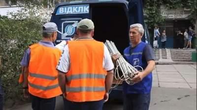 В Киеве отключают канализацию должникам за воду и водоотвод