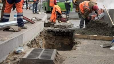 В одном из киевских районов реконструируют дождевую канализацию