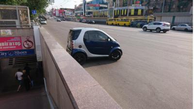 В Киеве видели необычного «автохама»