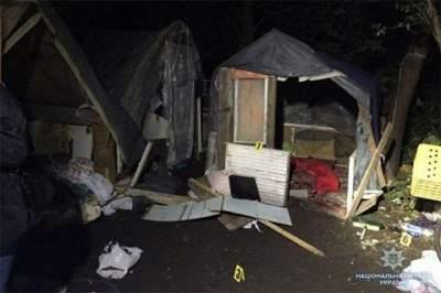 В Киеве активисты вновь разгромили лагерь ромов