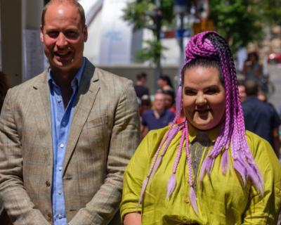 Принц Уильям прогулялся с победительницей Евровидения