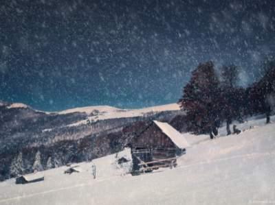 Карпаты снова засыпало снегом