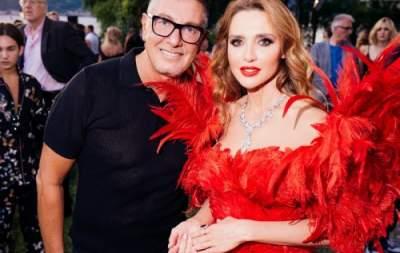Оксана Марченко посетила показ D&G в роскошном платье