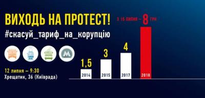 Киевлян зовут на митинг против подорожания проезда