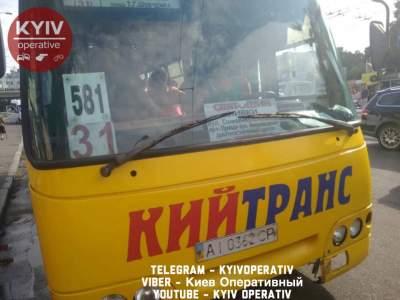 Киевлян возмутил агрессивный водитель маршрутки