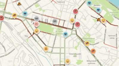 Центр Киева вновь стоит в пробках