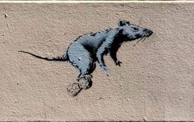 В Киеве появились граффити знаменитого художника