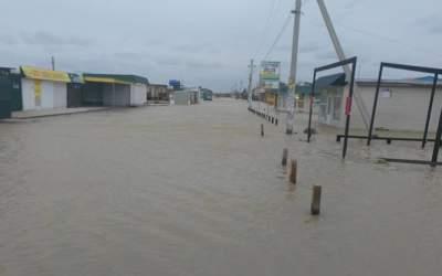 В Запорожской области затопило около ста домовладений