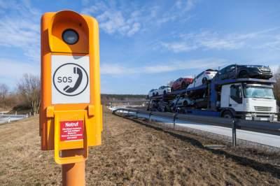На украинских дорогах хотят установить SOS-станции