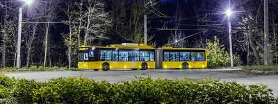В Киеве временно перестанет ходить ночной троллейбус