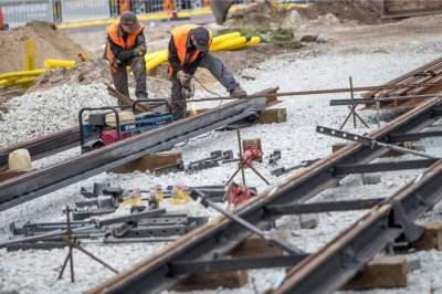 Ремонт трамвайный путей в Киеве: где окончены работы