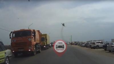 В Крыму над трассой видели российский военный самолет