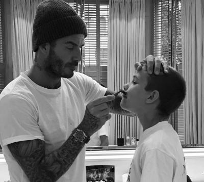 Дэвид Бекхэм опубликовал забавное фото с сыном