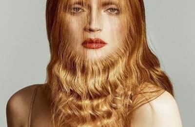 Известная модель примерила бороду