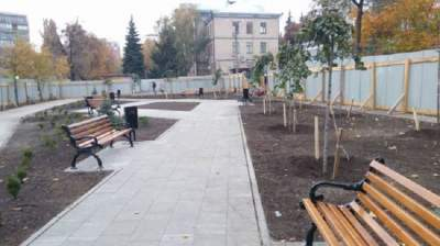 В Киеве обещают открыть новый сквер