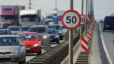 На семнадцати улицах Киева до апреля ограничат скорость движения