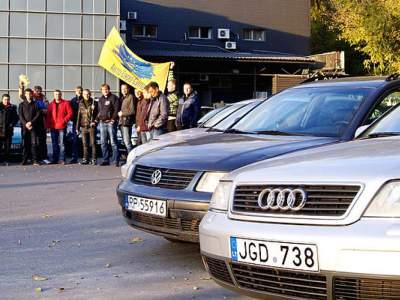 Водители «евроблях» планируют митинг под Верховной Радой