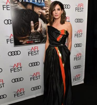 Сандра Буллок посетила премьеру фильма со своим участие