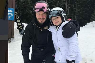 Семейство Бекхэмов отправилось в горы