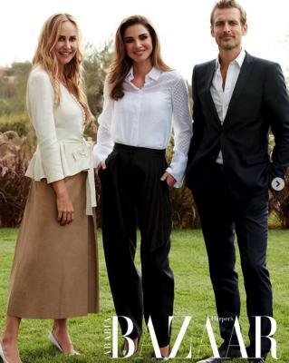 Королева Рания украсила обложку Harper's Bazaar